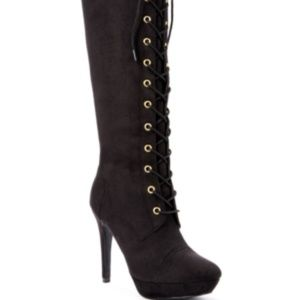 XOXO Normandy Tall Textile Dress Boots, US 9.5, M